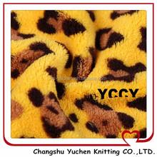 tricot velboa Leopard grain fiber coralfleece