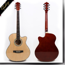 guangzhou acustic guitar ,40'' cutaway linden plywood semi acoustic guitar price FS-4014