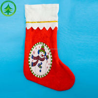 2015 wholesale/retail fashion cheap christmas stocking ,Christmas Decoration Supplies felt christmas stocking