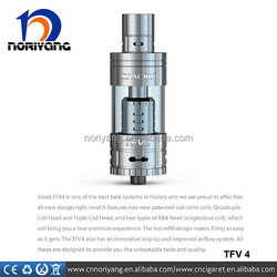 2015 for high wattage box mod X Cube II, Smok TFV4 top refill sub ohm tank with triple coil pre-installed best vaping atomizer