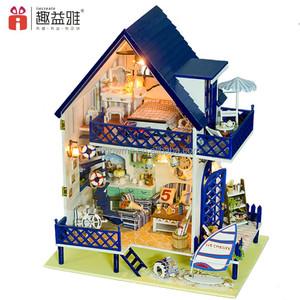 수제 아름다운 DIY 나무 인형 집 가구 아이 최고의 생일 선물 여자 친구 사랑 발리 섬