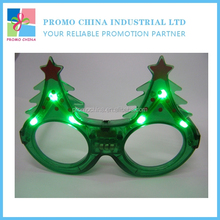 2016 New Arriving Christmas Tree Fun Glasses For Kids With LED Flashing Lights