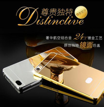 24k gold metal bumper with mirror phone case back cover for xiaomi mi note pro