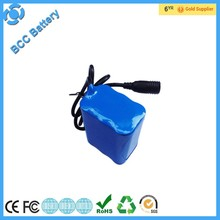 Waterproof 18650 14.8V 4400mAh rechargeable Battery pack