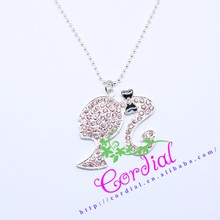 New Arrival Colorful Rhinestones Beautiful Girl Charm, Charms Pendants, Charm Necklaces Jewelry