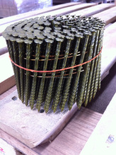 Pallet Coil Nail ,Ring, Screw, Smooth shank. Flat/Dome Coil, diamond/Chisel/Blunt point, Bright , Vinyl coating