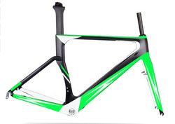 Workswell EN Quality Carbon Road Bike Frame+Fork+Clamp, Carbon Bicycle Frame
