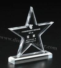trofeo de acrílico transparente