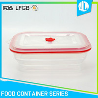 Collapsible great safety material cheap heat resistant food container