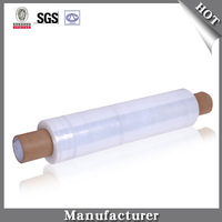 LLDPE Stretch Film Pallet Wrap Plastic Packaging Film , Stretch Film