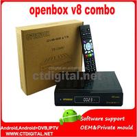 Hot selling Openbox V8 DVB-S2 + DVB-T2 Twin Tuner HD Satellite Receiver Supported 3G,GPRS,LAN,USB WiFi iptv Openbox V8 COM