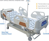 Factory since 1998! ISO CE five functions hospital electric bed lift