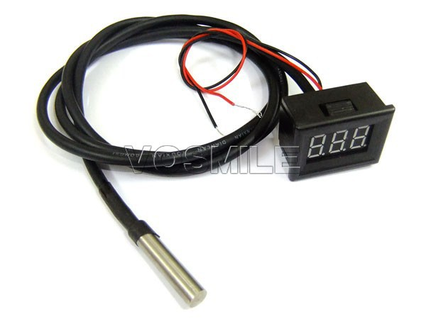 Вольтметр DS18B20 Sensor Temperature Tester 0.36yellow 3Digit /55 + 125 DS18B20 #200703 -55 to125 Degree Digital Thermometer