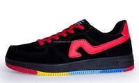 K008 men fashion lace-up colorful outsole skate shoes