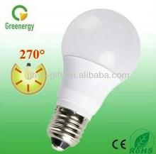 Greenergy 10W G60 AC110V / AC230V E27 B22 LED Light Bulb Big Beam Angle LED Bulb 270 degree ERP LED bulb light made in China