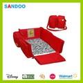 productos de porcelana de bebé plegable cama de viaje de poliéster de color rojo cuna bolsa de pañales