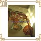 Início decoração da parede arte em vidro soprado placas