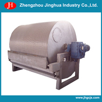 rotary drum vacuum filter price I potato starch dewatering and drying machine I potato chip processing machinery