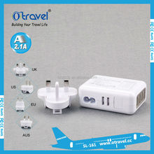 hot selling universal travel adapter usb 5V 2.1A 3.1A 5.4A