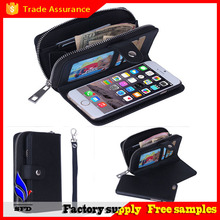 """2015 New design Zipper Wallet Leather phone Bags Case cover for iPhone 6 4.7"""" , smart phone bag"""
