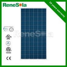 High Efficiency 290W Polycrystalline PV Solar Panels for Home and business, Made in Korea, CE,TUV,UL