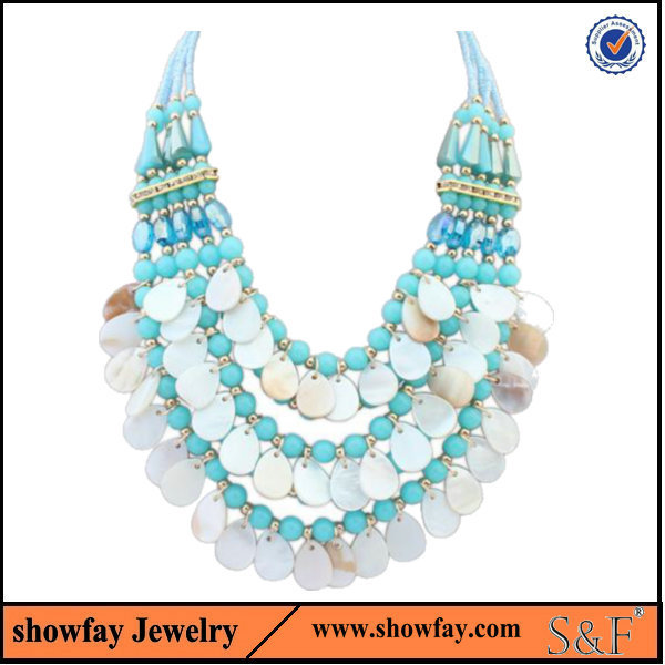 2015 New Genuine oem statement Jewelry , popular bead necklace