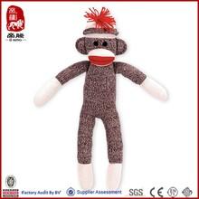 Lovely monkey socks toy for gift infant baby toy rattle socks