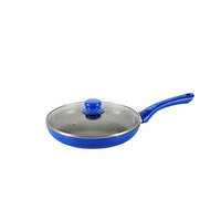 Aluminum marble coating forged fry pan with lid