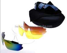 2015 new style fashion sports sunglasses outdoor riding eyewear with 5 changeable lens