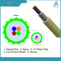 Single Mode Air Blown 4 Core Micro Tube Fiber Optic Cable