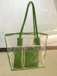 2015 hot sale plastic bag,clear pvc hand bag.shopping bag.
