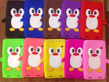 Low price carton penguin protective PC case for mini ipad PC