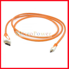 CY HD-143 HDMI V1.4 Male to Micro HDMI Male Adapter Cable for Phone / Tablet PC - Translucent Orange