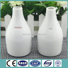 Elegant Fine New Bone China Oil and Vinegar 2 in 1 Bottles with embossed character printing