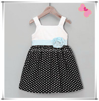 Latest Fashion Chevron Frocks Baby Girls Summer Spot Dress Designs