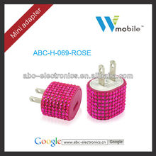 Cheap Bling Cell Phone wall Charger Cell Phone home Charger Manufacturer supplier