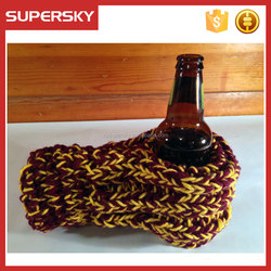 A-920 hand crochet bottle drink cozy bottle cover beer gloves mitten custom beer mittens hand cover
