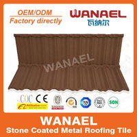 Traditional WANAEL factory sale stone coat metal/pvc plastic roof tile, China supplier