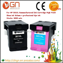 Wholesale compatible ink cartridges for hp 301(BK+Tri-color)