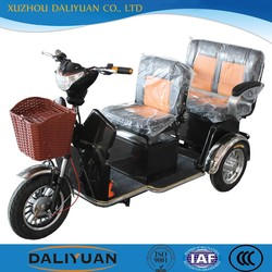 three wheel motor tricycle electric adult tricycle for passenger seat