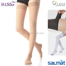 Thigh length compression stockings