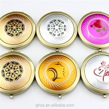 craft gifts small chinese style mini round craft mirrors for girl friend