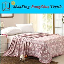new safe and enviroment 100% natural cotton blanket travel bedding throw blanket