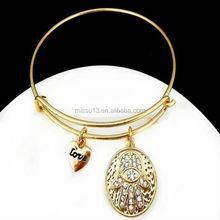 2015 new design palm adjustable wire charm bracelet