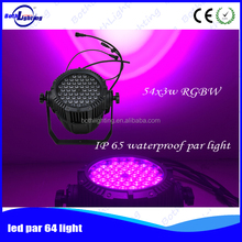 IP65 Water proof RGBW 54*3W LED Par Bar