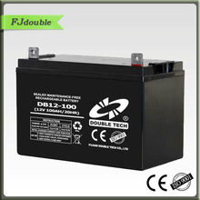 12 VOLT dry charge Lead acid solar battery 12V 100AH