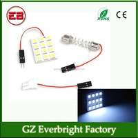 car Interior Dome Light 12 smd 5050 panel led, car pcb leds, BA9S T10 adapters+ Festoon Dome Adapters