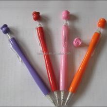 plastic cheap rose flower pen for female