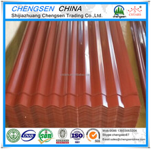 CSTARS Brand 800mm width Prepainted Galvanized Corrugated steel roofing sheet in steel sheets From Chengsen