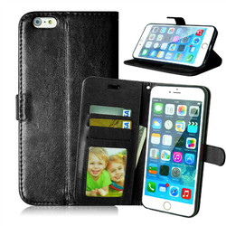 For Apple iPhone 6 6s Plus Magnetic Flip PU Leather Wallet Case with Photo Frame Card Holder Smart Stand 4G Mobile Phone Cover